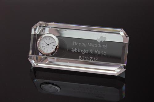 クリスタル時計 アングル