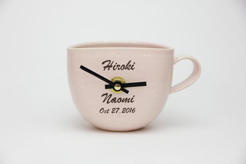陶器時計の名入れプレゼント カップtokei