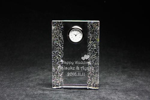 クリスタル時計 プリズム