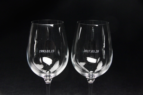 名入れペアワイングラス ボルドー