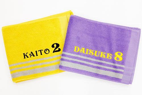 名入れ刺繍 ふんわり手触り カラーマフラータオル 全7色