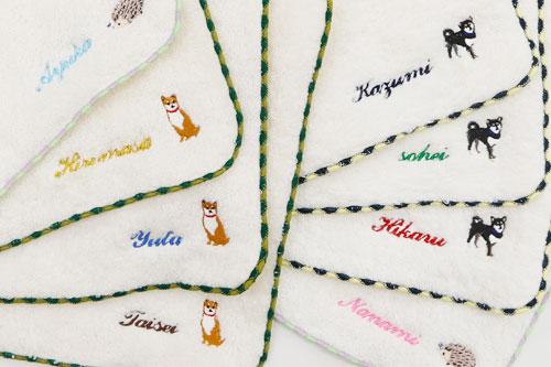 名入れ刺繍ハンカチ やわらかタオルハンカチ